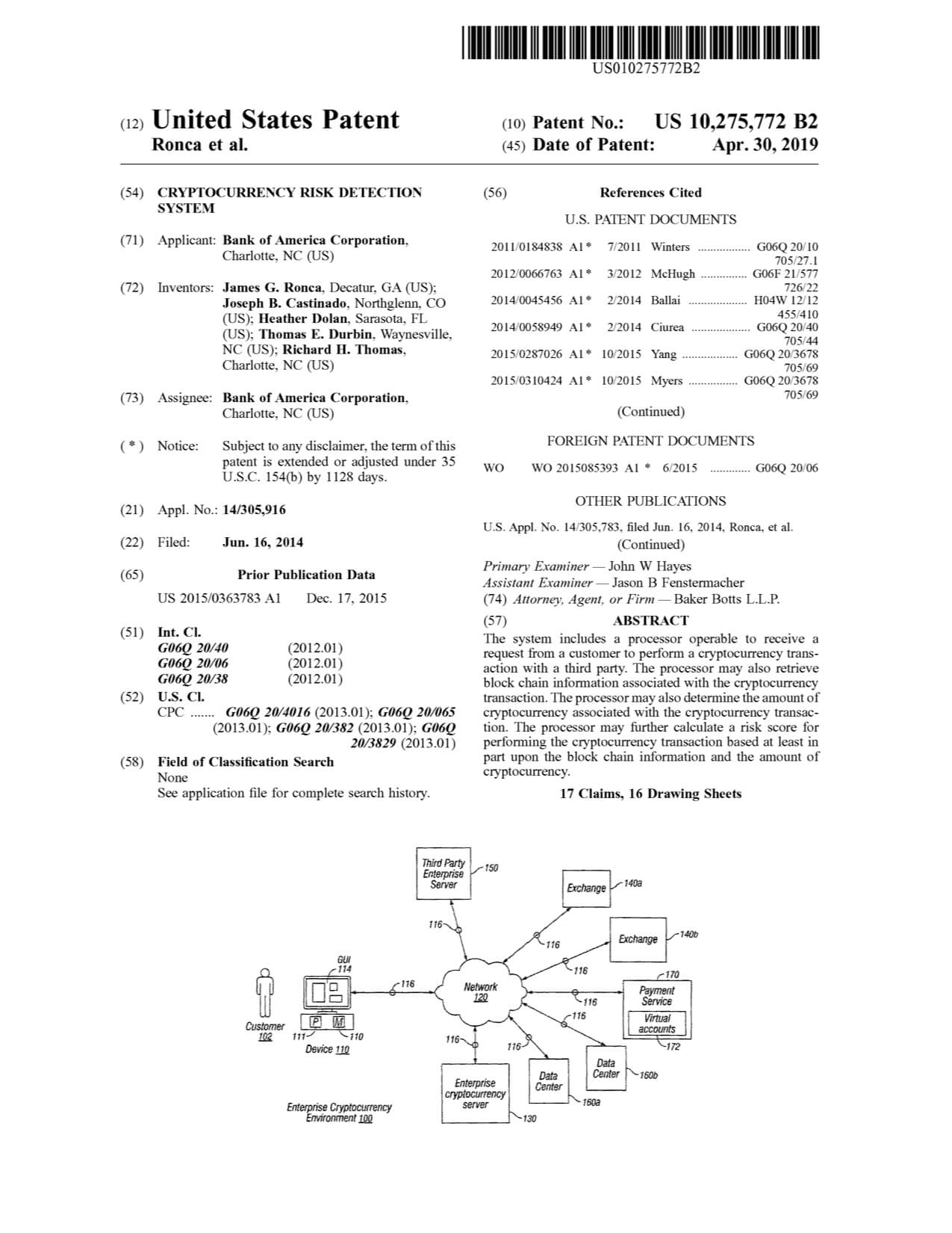 bank-of-america-cryptocurrency-patent
