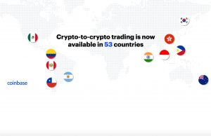 Cryptocurrency exchange Coinbase expands into 11 new countries