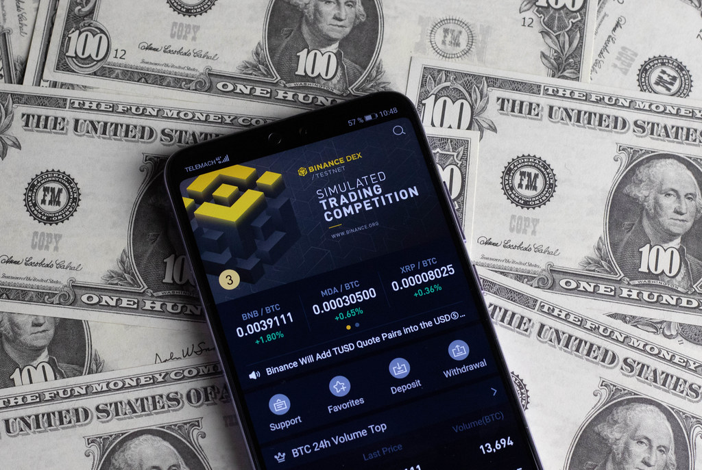 Binance Trading App on mobile phone