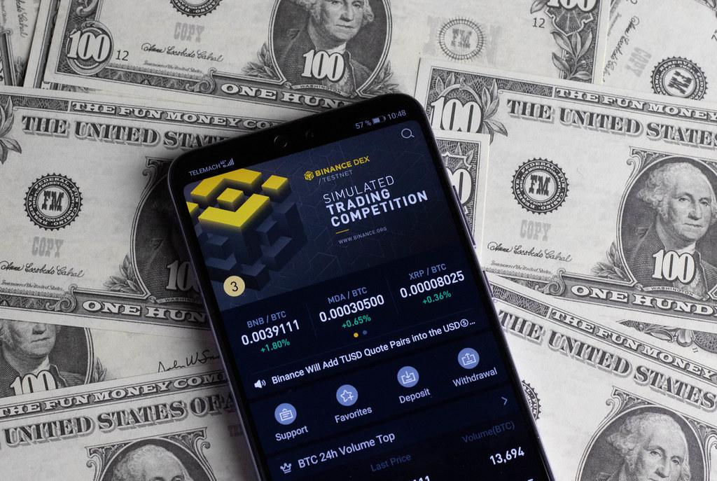 Binance Trading App on mobile phone