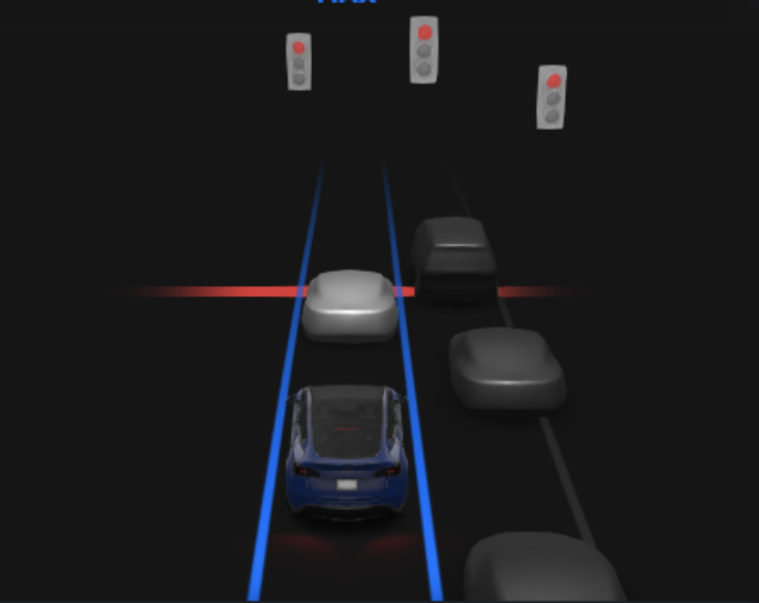 Tesla Cars Can Automatically Stop for Traffic Lights