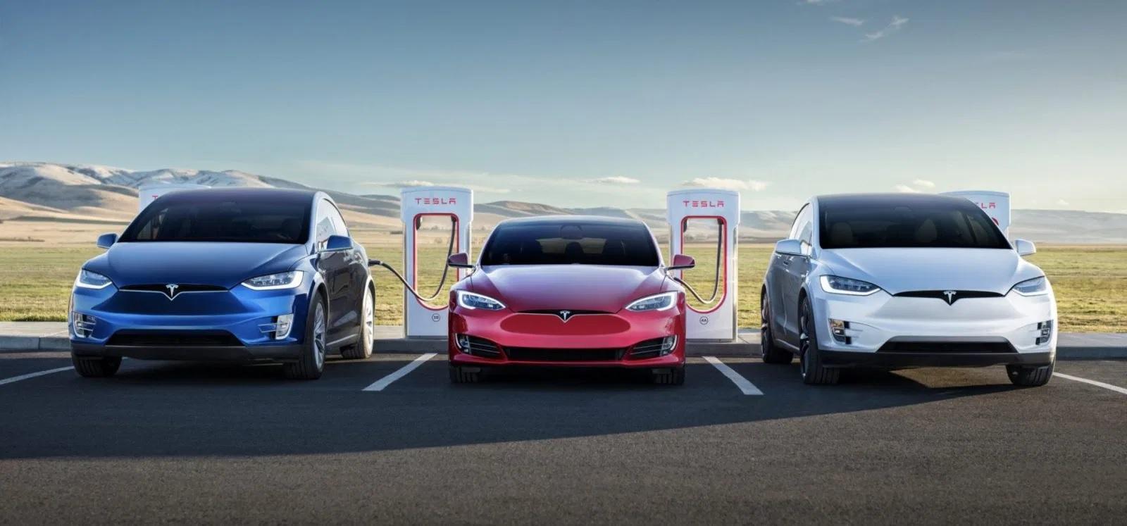 Tesla Model X, Model S, Model 3