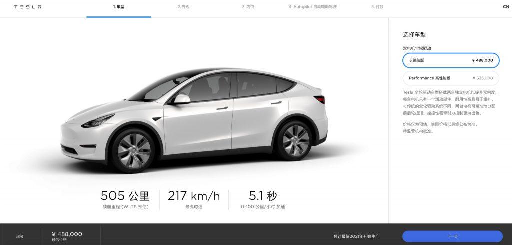 Model Y - China