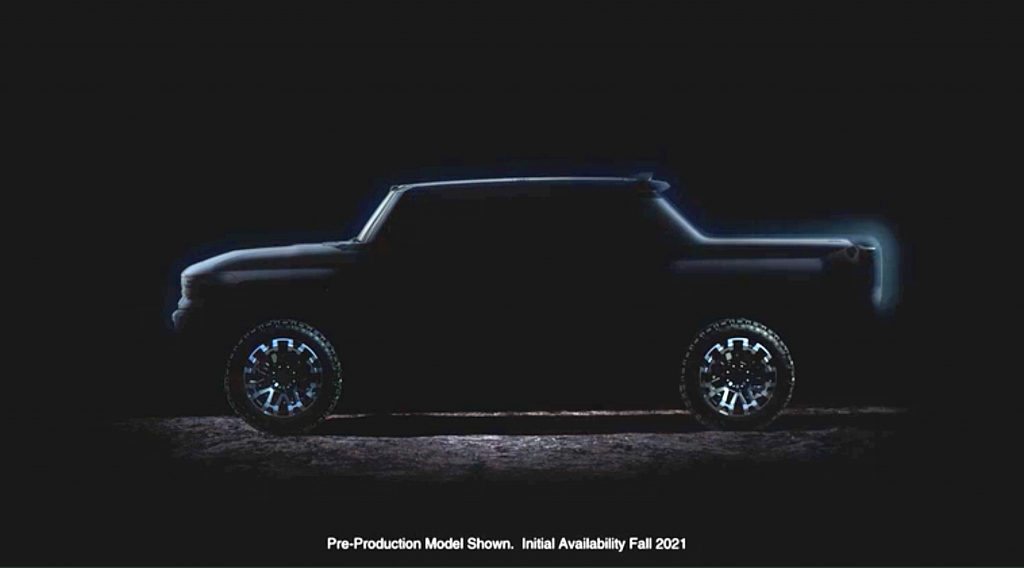 GMC Hummer EV Pickup and SUV Teased Ahead of Late 2020 Unveiling