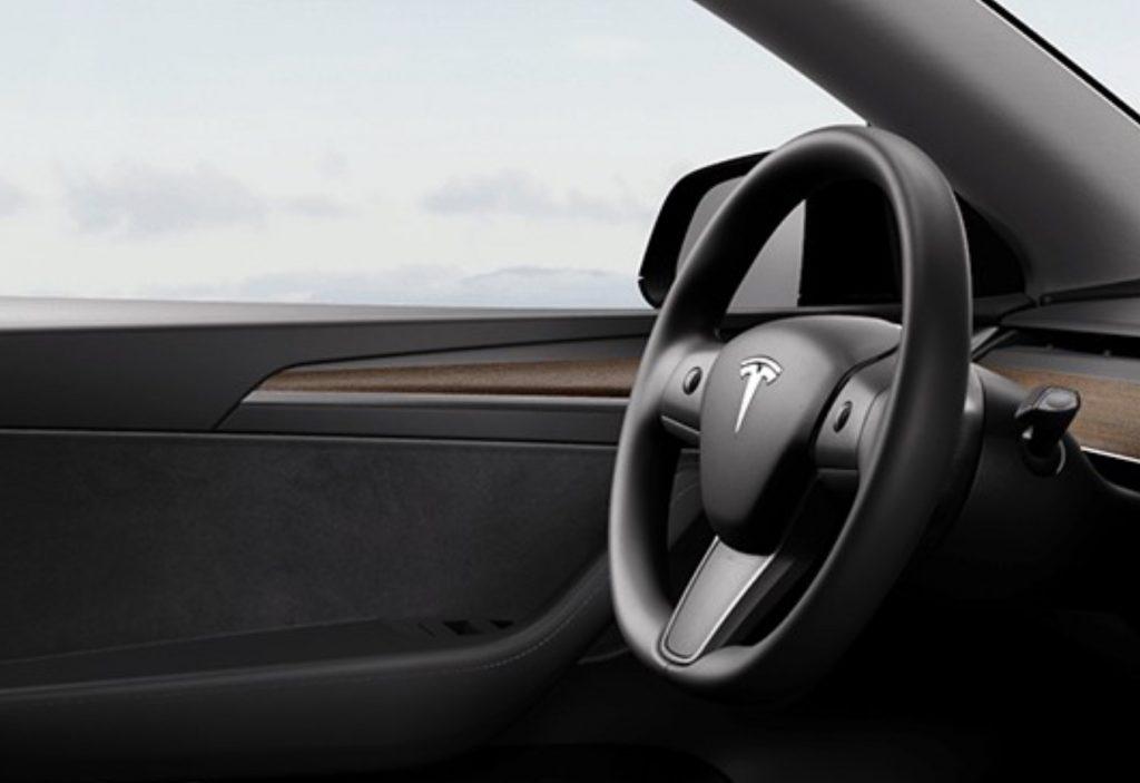 Tesla Model Y - Wood Panel
