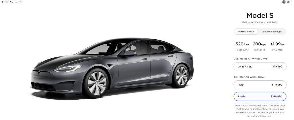 Model S Plaid Plus